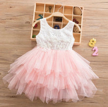 Load image into Gallery viewer, Tia & Sia | Beautiful baby girl clothing | pink lace dress for girls