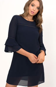 Tia & Sia | Navy blue cocktail dress | women's online clothing