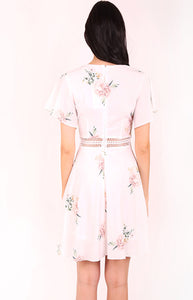 Floral A-Line Dress with Trim Details