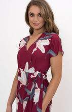 Load image into Gallery viewer, Floral Wrap Dress with Box Pleats