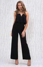 Load image into Gallery viewer, Tia & Sia | Stunning black shoulderless jumpsuit