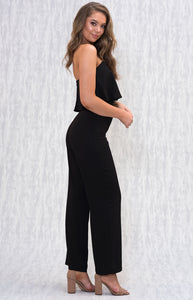 Tia & Sia | Ladies strapless jumpsuit | Formal black jumpsuit