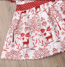Load image into Gallery viewer, Girl Toddler Deer Print Dress