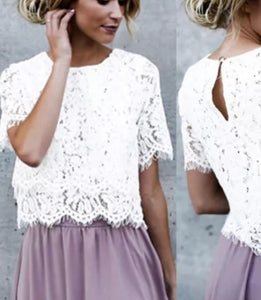 Tia & Sia | Ladies White lacy blouse | Online women's fashion