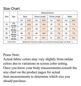 Tia & Sia | Baby clothing | Size chart