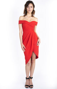 Off the Shoulder Sweetheart Neckline Bodycon Dress