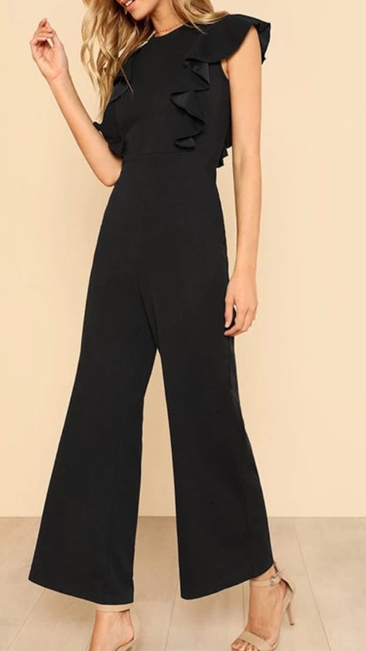 Tia & Sia | Ladies black jumpsuit | Women's online fashion store