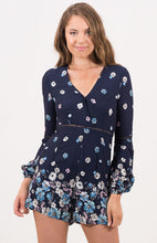 Load image into Gallery viewer, V-neck Floral Jumpsuit with Trim Details