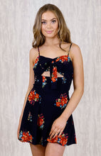 Load image into Gallery viewer, Tia & Sia | Floral Summer Dress | black floral summer dress