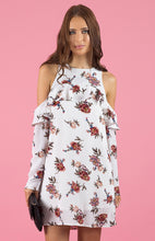 Load image into Gallery viewer, Cold Shoulder Floral Shift Dress