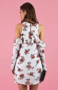 Tia & Sia | Women's floral off the shoulder cocktail dress