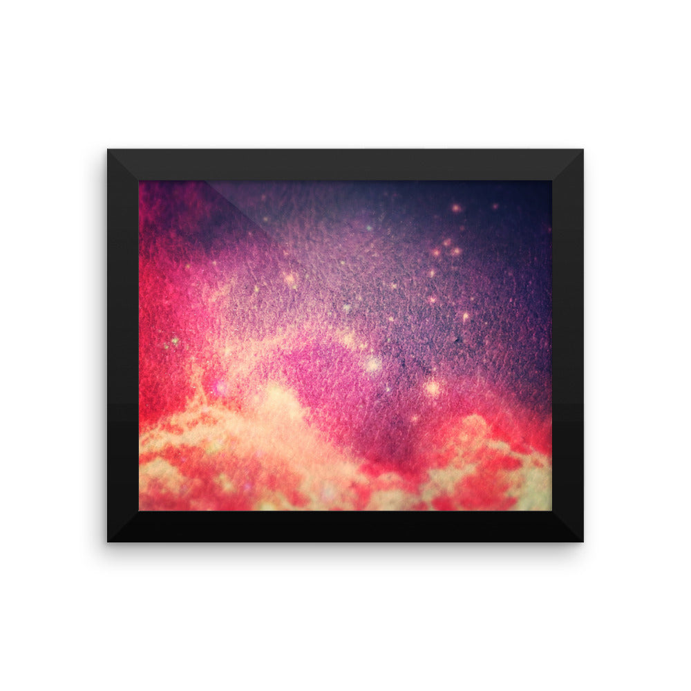 Framed photo paper poster
