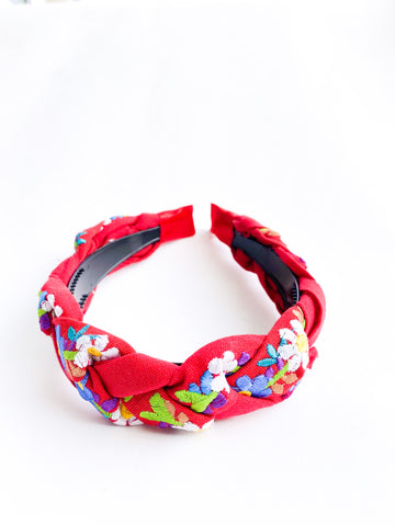 Embroidered Maria Headband