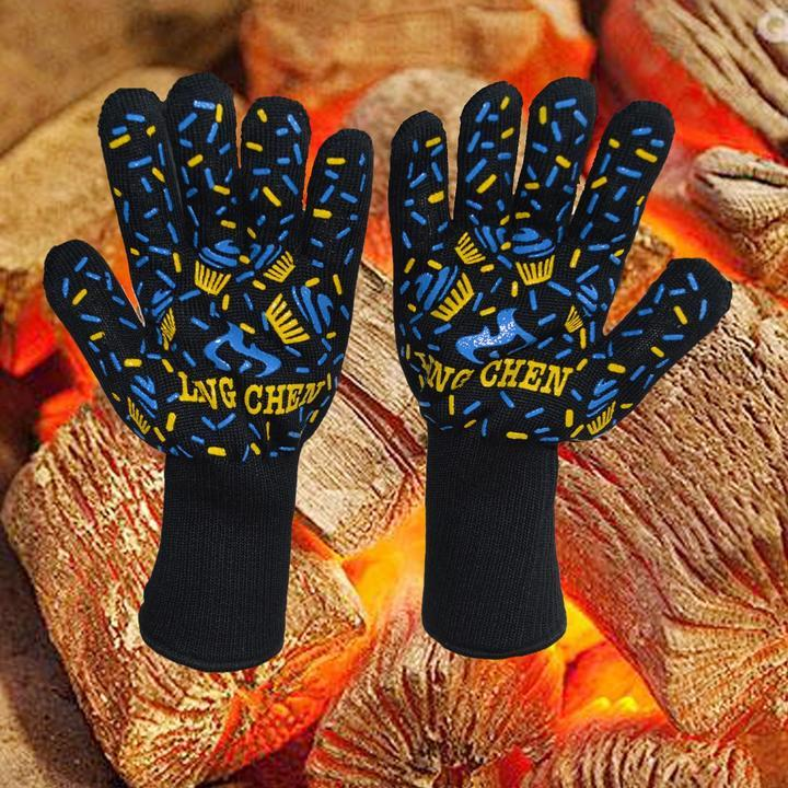 (Factory Outlet) (50% OFF today!)BBQ Gloves Extreme Heat Resistant 932°F(500°C)