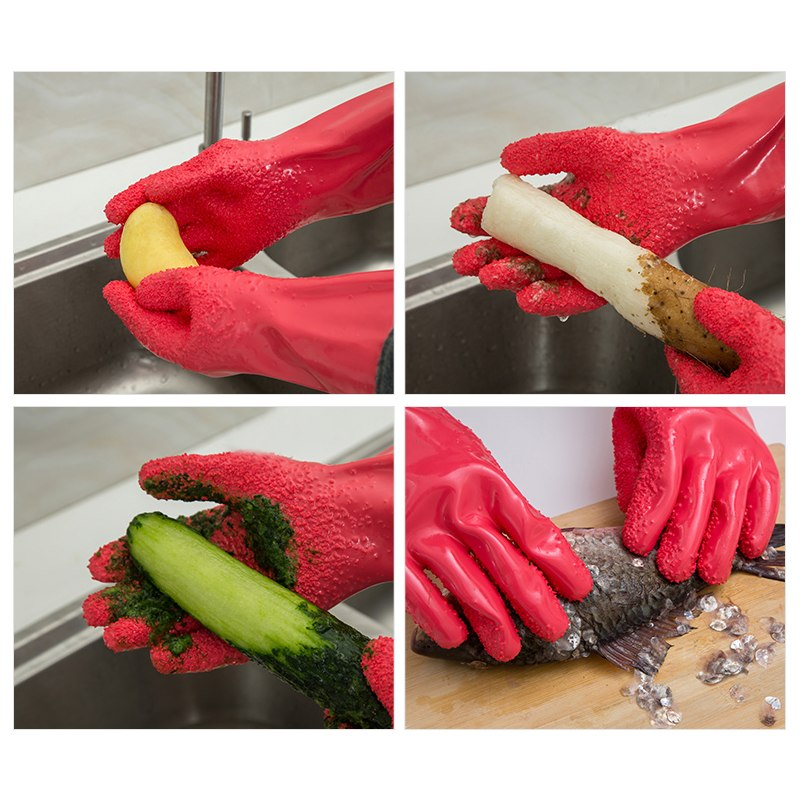 60%OFF - 1 Pair Peel Vegetable Fish Scale Gloves Potato Peeler Kitchen Tools