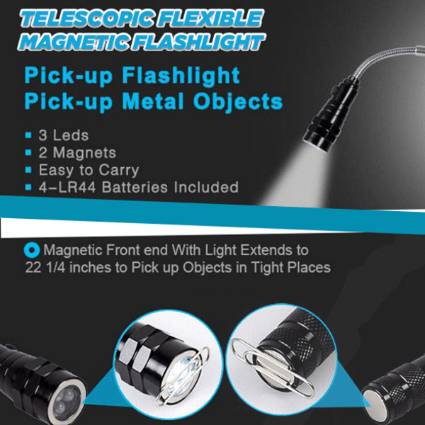 【Latest products】-Telescopic Flexible Magnetic Flashlight