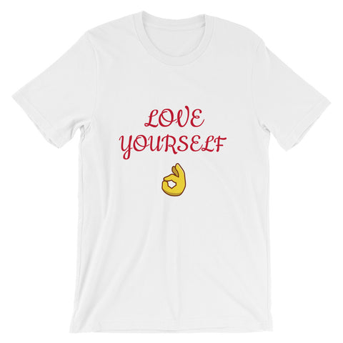 Love Yourself Short-Sleeve T-Shirt-White