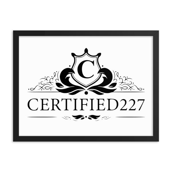 Certified Framed Poster Design - Certified227