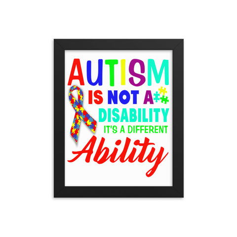 Autism Ability Vintage Framed Poster - Certified227