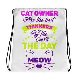 Cat Lover Drawstring Bag Design - Certified227