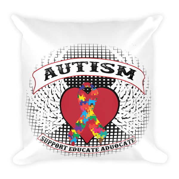 Autism Square Pillow Graphic Design - Certified227