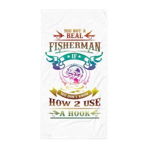 Real Fishermen Beach Towel Design- White/Multiple Colors