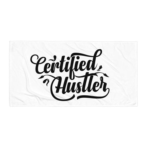 Certified Hustler Beach Towel Design - Certified227