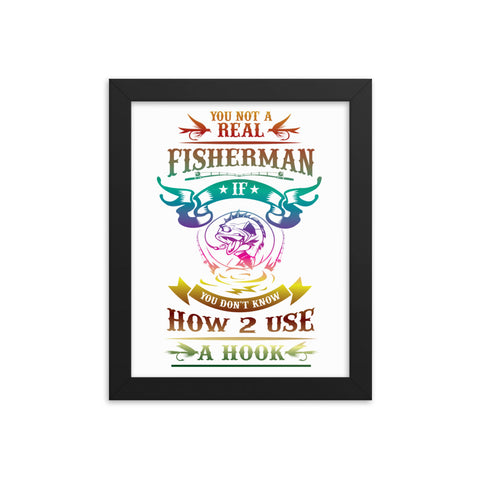 Fisherman Framed Poster - Certified227