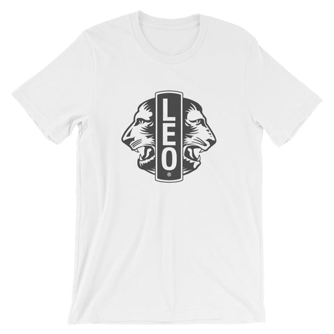 Leo Short-Sleeve T-Shirt Design-White