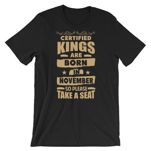 Certified Kings November T-Shirt Graphic Design - Certified227