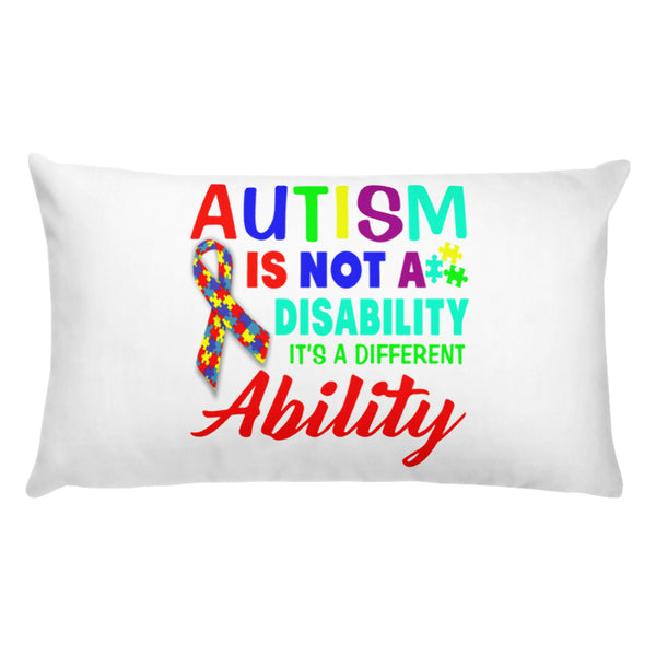 Autism Speak Graphic Pillow Talk Design - Certified227