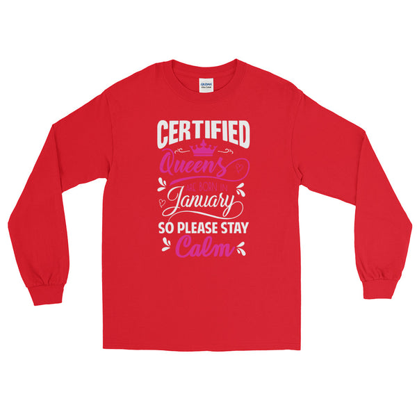 Ladies Long Sleeve January T-Shirt - Certified227