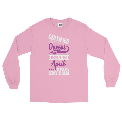 Ladies Long Sleeve T-Shirt/April-Light Pink