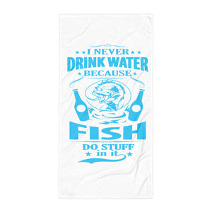Fisherman Blue Beach Towel - Certified227