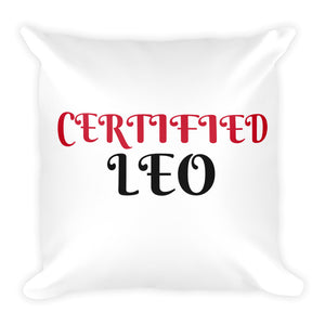 Certified Leo Square Pillow Design - Certified227