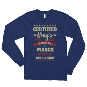 Men March Graphic Long-Sleeve T-Shirt - Navy