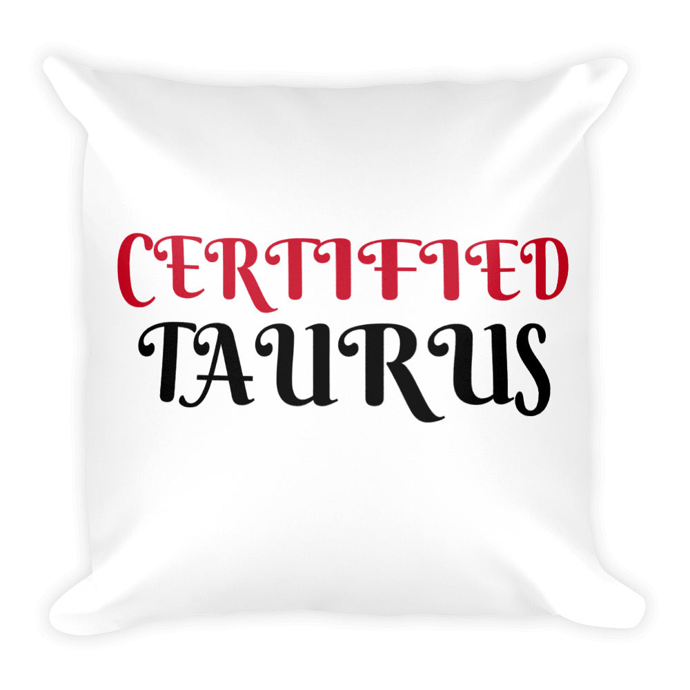 Certified Taurus Square Pillow Design - Certified227