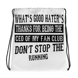 Hater's Club Drawstring Bag Design - Certified227