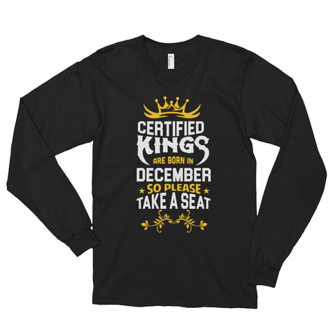 Men December Graphic Long-Sleeve T-Shirt - Black