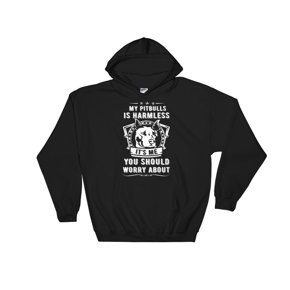 My Pitbull Is Harmless Hoodie Sweatshirt - Black
