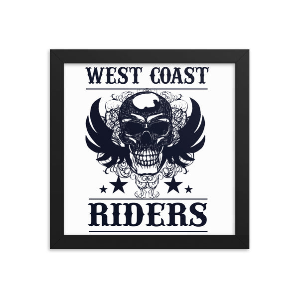 West Coast Riders Framed Poster- White/Black