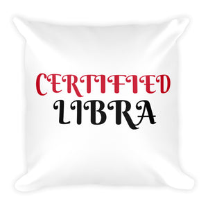 Certified Libra Square Pillow Design - Certified227