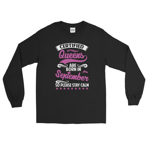 Ladies Long Sleeve September T-Shirt-Black