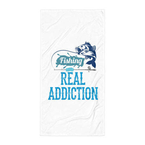 Fisherman Addiction Beach Towel - Certified227