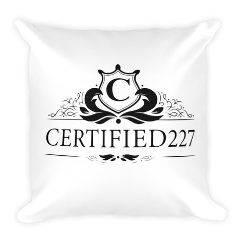 Certified Graphic Pillow Design - Certified227
