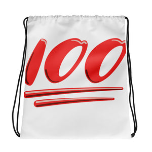 Keep It 100 Drawstring Bag Design - Certified227