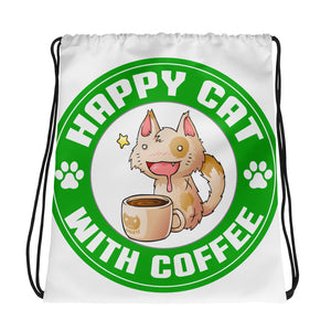 Coffee Cat Drawstring Bag Design - Certified227