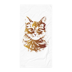 Gold Cat Beach Towel - Certified227