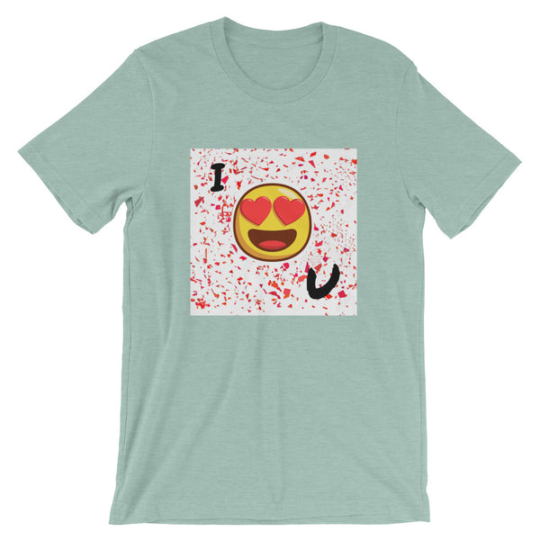 Love You Short-Sleeve T-Shirt-Heather Prism Dusty Blue