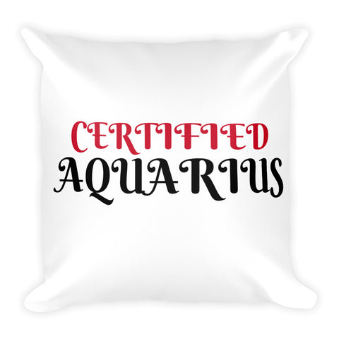 Certified Aquarius Square Pillow Design - Certified227
